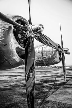 Black and White Photograph of a Boeing B29 by VPCompany on Etsy