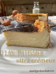 Flan p tissier ultra cr me Cheesecake Mousse Recipe, Chocolate Mousse Cheesecake, Cheesecake Recipes, Dessert Recipes, Homemade Cheesecake, Chocolate Pudding, Bon Dessert, Waffle Recipes, Easy Recipes