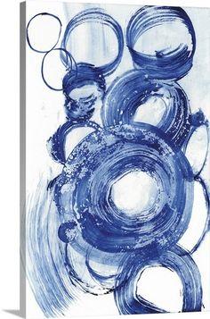 28aec571adfd Blue Circle Study II Blue Abstract