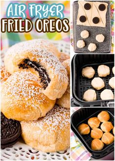 If you love your air fryer and love easy desserts, then you'll adore these 3 ingredient Air Fryer Fried Oreos. Delicious and fun! Homemade Desserts, Easy Desserts, Delicious Desserts, Dessert Recipes, Oreo Cookie Recipes, Fried Oreos, Best Cinnamon Rolls, Air Frier Recipes, Air Fryer Recipes Easy