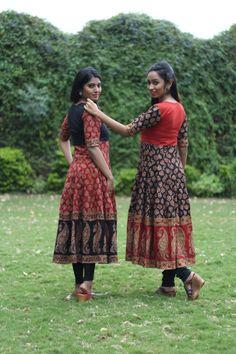 Kalamkari Designs, Churidar Designs, Kurti Neck Designs, Kurta Designs Women, Blouse Designs, Kalamkari Dresses, Frock For Women, Indian Gowns Dresses, Dress Indian Style