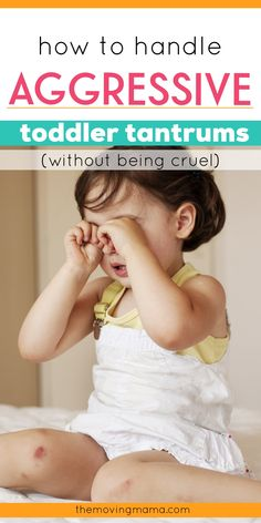 Click here to learn exactly how to handle toddler tantrums and end the aggressive behaviours your toddler uses to express their big feelings. You can learn to tackle aggressive toddler tantrums at any age without being cruel. Toddler discipline made easier!