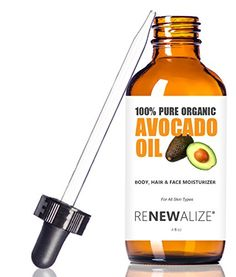 Organic AVOCADO OIL – Cold Pressed and Unrefined in LARGE 4 OZ. DARK GLASS BOTTLE with Glass Eye Dropper | Highest Quality 100% Pure | Non GMO | All Natural Moisturizer for Luxurious Hair, Skin and Nails | Helps to Enhance Hair's Natural Silkiness and Shine | Softens and Moisturizes Dry Itchy Skin | An Excellent Carrier Oil for Mixture with Essential Oils | Guaranteed Improvement