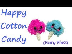 Happy Cotton Candy (Fairy Floss) Tutorial by feelinspiffy (Rainbow Loom). So many people have requested this. Worth the wait. So cute.