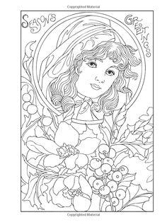 Creative Haven Vintage Christmas Greetings Coloring Book (Creative Haven Coloring Books): Marty Noble: 9780486791890: Amazon.com: Books