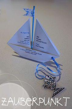 * MAGIC *: Communion Invitation Card Folding Ship {video tutorial} - all-invitations. Kids Origami, Communion Invitations, Susa, Origami Tutorial, Nautical Wedding, Craft Tutorials, Diy For Kids, Invitation Cards, Sewing Crafts