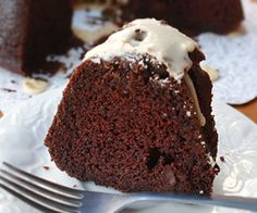 This moist sour cream chocolate bundt cake with coffee glaze will definitely make you want more and more.