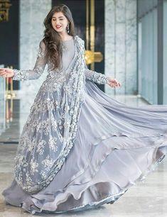 mujhe Ye color but psnd hai Indian Designer Outfits, Indian Outfits, Designer Dresses, Pakistani Outfits, Pakistani Bridal Wear, Pakistani Wedding Dresses, Indian Gowns Dresses, Evening Dresses, Stylish Dresses