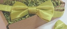 Men's Avocado Green Two-Tone Taffeta Pretied Bowtie Wedding Prom Special Ocassion by HouseOfJdawn on Etsy