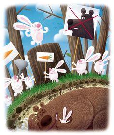 Hare Illustration, Illustrations, Cartoon, Rabbits, Funny, Binder, Artists, Engineer Cartoon, Illustration