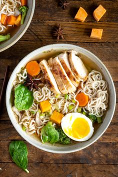 Homemade ramen soup with grilled chicken and sweet potato - Emilie Murmure - Beef Recipes Grilled Chicken Recipes, Chicken Soup Recipes, Easy Soup Recipes, Healthy Crockpot Recipes, Beef Recipes, Noodle Recipes, Chicken Soups, Asian Recipes, Ethnic Recipes