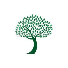 Green leafy tree image logo design — Stock Illustration #51007661