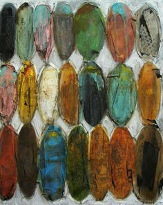 art painting elipse pods-like the earthy look of this. Groovy colors!