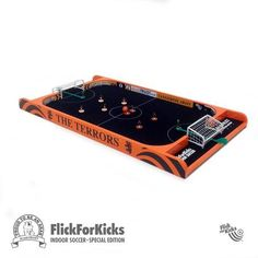 WIN for Christmas! Dundee United fans, this is a special edition FlickForKicks 5-a-side table soccer mini-table made especially for ArabTrust, the Dundee United Supports Society. If you've ever played Subbuteo, you'll love this!  You get the Terrors themed table with superb indoor-style metal goals, handpainted United home and away teams, and a ball.   Worth nearly £150, you can win it before Christmas. 150 raffle tickets available for £2 each. Profits go to youth development at Tannadice!