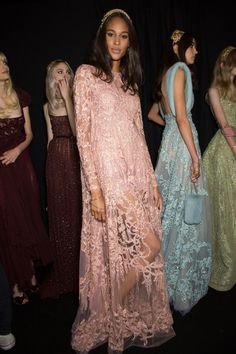 Elie Saab at Couture Fall 2015 (Backstage)