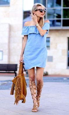 Moda it - Look: Vestido Ombro a Ombro   Moda it