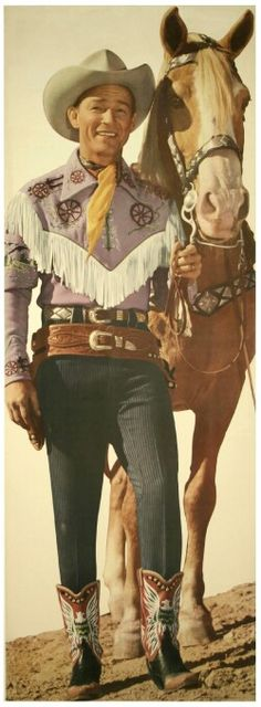 Roy Rogers and Trigger.