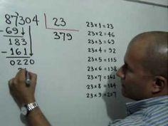 División Inexacta: Julio Rios explica el procedimiento para resolver una división inexacta, con su respectiva prueba