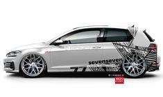 seven seven Golf GTI wrap ﹛﹜ ﹟ᴛʜᴇᴩʀᴏᴩᴇʀᴄᴀʀ ﹟ᴩʀᴏ. - New Ideas Fiat 600, Car Stickers, Car Decals, Disney Cars, Audi A6, Vinyl For Cars, Car Audio Installation, Volkswagen Golf R, Vw Scirocco