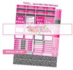 Missplans Printables – Mean Girls Free Printable