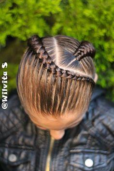 Peinados Two Braid Hairstyles, Baby Girl Hairstyles, Natural Hairstyles For Kids, Natural Hair Styles, Long Hair Styles, Barbie Hairstyle, Girl Hair Dos, Diamond Hair, Braids For Black Hair