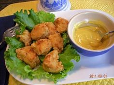 I got the recipe from the Great American Favorite Brand Name Cookbook. Works great in a deep fryer. Homemade Chicken Nuggets, Chicken Nugget Recipes, Veggie Recipes, Fish Recipes, Seafood Recipes, Dinner Recipes, Slow Cooker Soup, Slow Cooker Recipes, Deep Fryer Recipes