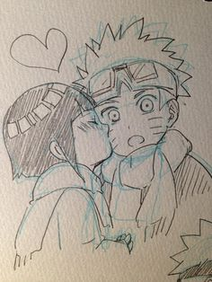 Image about naruhina in Naruto by Dodomi on We Heart It Anime Naruto, Naruto Und Hinata, Naruto Cute, Naruto Shippuden Anime, Manga Anime, Naruto Sketch, Naruto Drawings, Art Drawings Sketches Simple, Anime Sketch