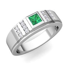 Not Expensive Zsolt Wedding Rings Mens Wedding Rings Emerald