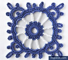 Pretty crochet motif.....MyPicot | Free crochet patterns
