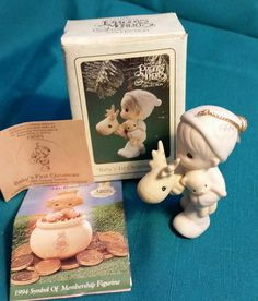 """Precious Moments """"Baby's First Christmas"""" 1994 Ornament/Precious Moments Ornament/Baby's First Christmas/Vintage Precious Moments/Ornament by NatomisTreasures on Etsy"""