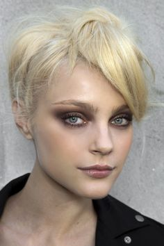 Really liking this taupe, purple smoky eye. Its not as dramatic as a black, or…