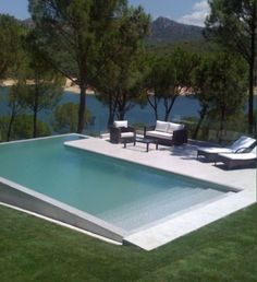 Pool by Lake