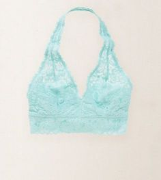 Aerie, lace halter bralette, $24.95, available at American Eagle Outfitters.