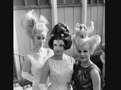<3 a hairdresser contest in munich, germany in 1964, photo: associated press (item ID: # 6405011310) #hair #crazy