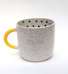 Recreation Center Mug. Cute and simple. Bright yellow brightens the ensemble.