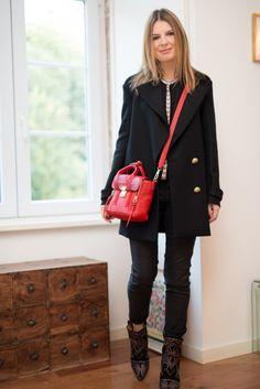 Caban Zara Slim Comptoir Boots Berry Isabel Marant Blouse Etoile Isabel Marant Sac/Bag Mini Pashli Phillip Lim