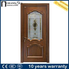 Awesome Fancy Wood Carving Simple Teak Wood Door Designs With Glass
