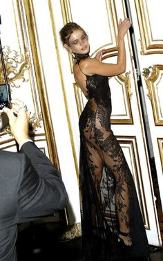 Natalia Vodianova at the Vogue Paris Masquerade Ball - I don't have the figure for this dress, but hot damn, she looks good