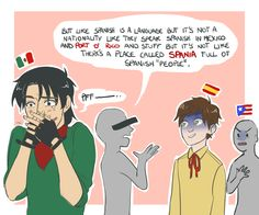 Read Spain from the story Funny/Sad hetalia pictures by Vigilant_Schemer with 456 reads. Latin Hetalia, Hetalia Anime, Hetalia Funny, Hetalia Fanart, Familia Anime, Hetalia America, Mundo Comic, Hetalia Axis Powers, Country Art