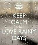 I love rainy days! The sound of the rain on the roof is heaven to me. And I love to open all the windows and smell the rain too....