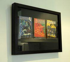 frame book covers.  genius.