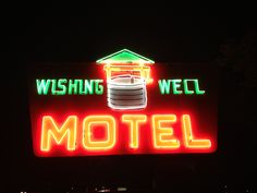 Wishing well motel neon sign franklin indiana