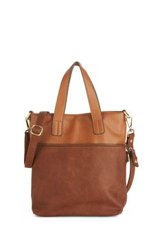 The Nouveau You Bag. Stay ahead of the style curve by toting this suave two-tone bag around town. #brown #modcloth