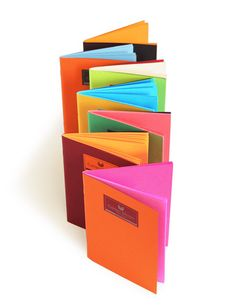Colorful notebooks, kates paperie