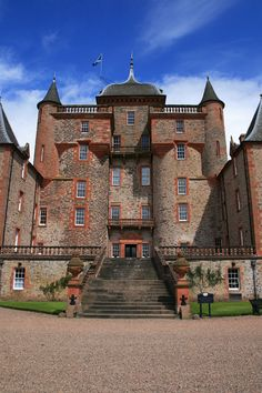 Thirlestane Castle and gardens - Scotland.Begun in the late century by John Maitland, Keeper of the Privy Seal of Scotland and later Lord Chancellor of Scotland, it is still home to the Maitland family today. Scotland Castles, Scottish Castles, Castle Ruins, Medieval Castle, Beautiful Castles, Beautiful Buildings, Palaces, The Places Youll Go, Places To Go