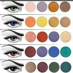 As cores de sombras que valoriza seu olhar.