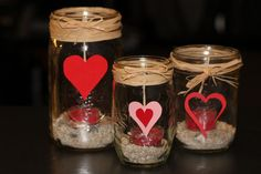 valentine's table decorations mason jar - Google Search