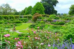 "The Great Plat at Hestercombe, near Taunton, where Gertrude Jekyll's planting plans have been fully restored by Somerset Fire Brigade during the past 25 years.  This garden is a wonderful example of the partnership between Gertrude Jekyll and Sir Edwin Lutyens who together created many ""Gardens of a Golden Afternoon"" (See Jane Brown's excellent book)."