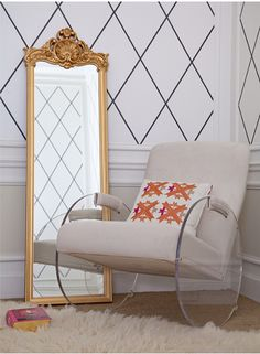 lucite rocking chair.