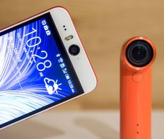 The HTC Desire Eye with the HTC Re camera.
